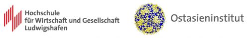 Logo der Hochschule für Wirtschaft und Gesellschaft Ludwigshafen und Logo des Ostasieninstituts