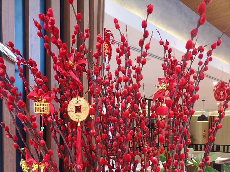 Neujahrsdekoration – Rot steht in China für Glück, Freude und Wohlstand