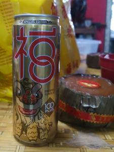Getränkdose in einer Neujahrs-Edition