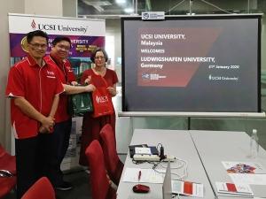 Besprechung mit Christine Liew und Mitarbeitern der UCSI University