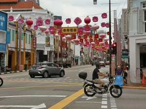 Ankunft Chinatown in Singapur