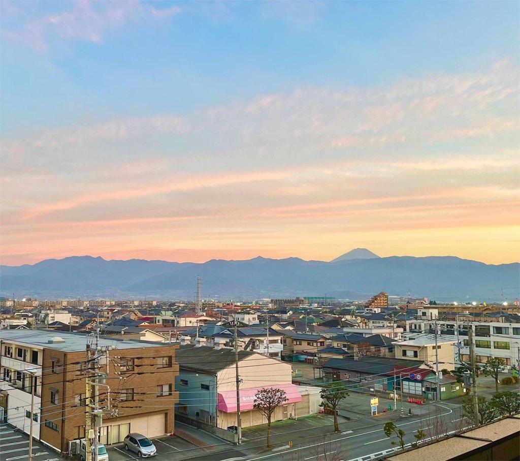 Ausblick auf den berühmten Berg Fuji