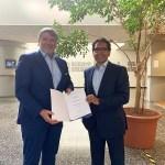 Prof. Dr. Manuel Vermeer und Prof. Dr. Frank Albe, Präsident der PFH Göttingen